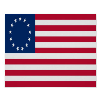 Colonial American Flag Poster