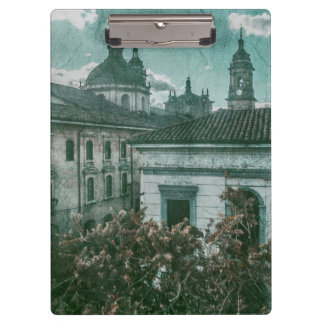 Colonial Architecture at Historic Center of Bogota Clipboard