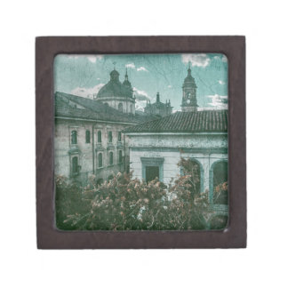 Colonial Architecture at Historic Center of Bogota Keepsake Box