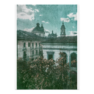Colonial Architecture at Historic Center of Bogota Photo Print