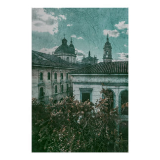 Colonial Architecture at Historic Center of Bogota Poster