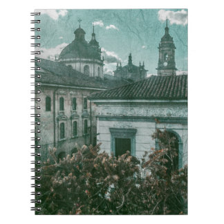 Colonial Architecture at Historic Center of Bogota Spiral Notebook