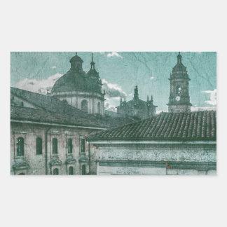 Colonial Architecture at Historic Center of Bogota Rectangular Sticker