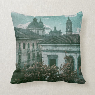 Colonial Architecture at Historic Center of Bogota Throw Pillow
