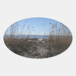 Colonial Beach 1 Oval Sticker