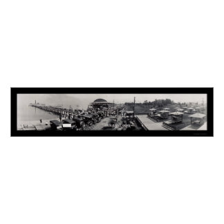 Colonial Beach Auto VA Photo 1913 Poster