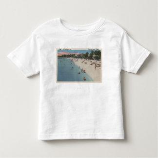 Colonial Beach, VA - Sunbathing & Swimming Scene Toddler T-shirt