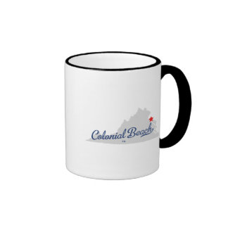 Colonial Beach Virginia VA Shirt Ringer Mug