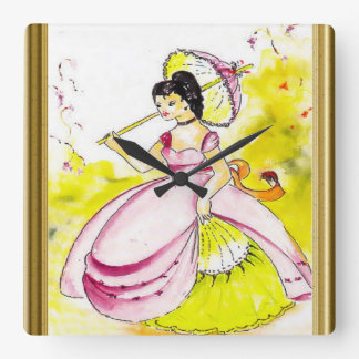 Colonial Belle Square Wall Clock
