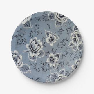 Colonial Blue Flower Pattern Paper Plates