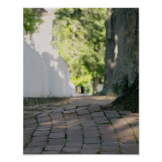 Colonial Brick Sidewalk Poster