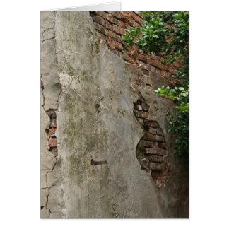 Colonial Brick Wall Card