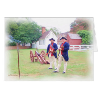 Colonial Canon Crew Greeting Card