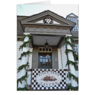 Colonial Christmas Tavern Greeting Card
