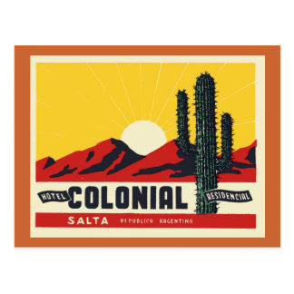 Colonial del hotel tarjeta postal