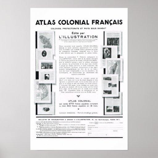 Colonial Français del atlas Impresiones