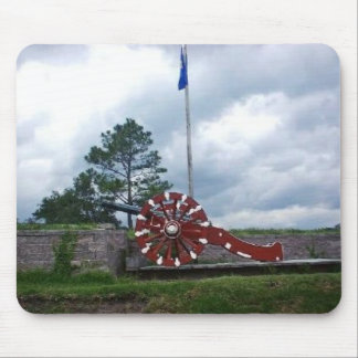 Colonial French Cannon Mouse Pad