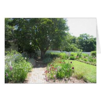 Colonial Garden. Card