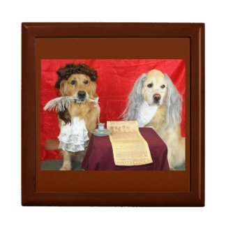 Colonial Golden Retrievers Jewelry Boxes