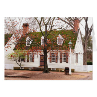 Colonial House - Williamsburg Card