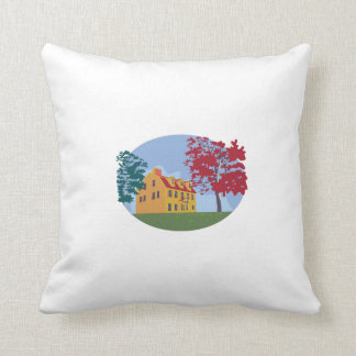 Colonial House WPA Throw Pillow