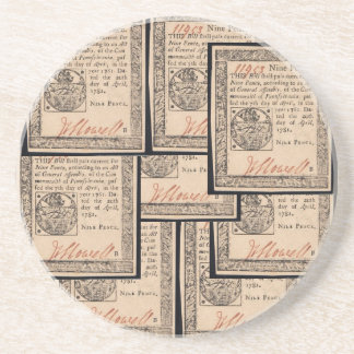 colonial legal document coaster