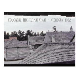 Colonial Michilimackinac Michigan Postcard
