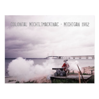 Colonial Michilimackinac Michigan Postcard