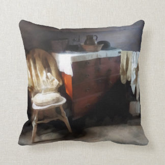 Colonial Nightclothes Throw Pillow