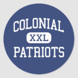 Colonial Patriots Middle Memphis Tennessee Classic Round Sticker