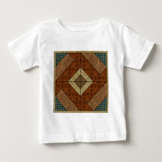 Colonial Pavement in Dark Green & Rust Baby T-Shirt