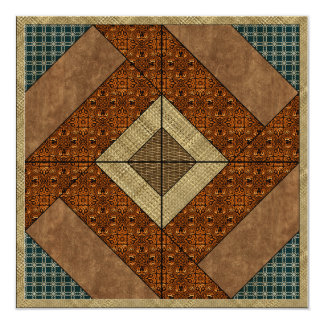 Colonial Pavement in Dark Green & Rust Card