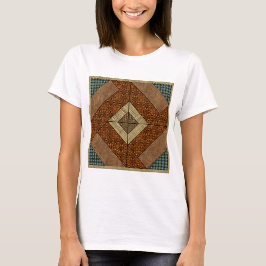 Colonial Pavement in Dark Green & Rust T-Shirt