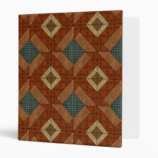 Colonial Pavement in Dk. Green and Rust Brown Vinyl Binders