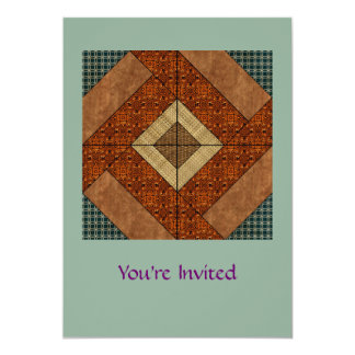 Colonial Pavement in Dk. Green and Rust Brown Card
