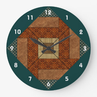 Colonial Pavement in Dk. Green and Rust Brown Clock