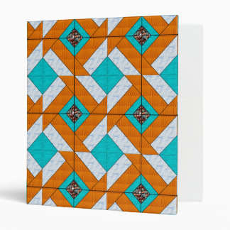 Colonial Pavement Water Sand Sky and Rocks 3 Ring Binder