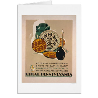 Colonial Pennsylvania 1940 WPA Greeting Card