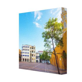 Colonial Plaza Canvas Print