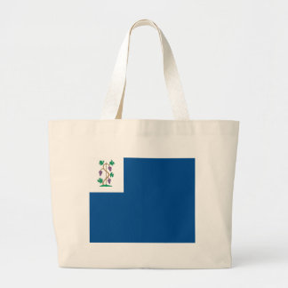 Colonial Privateer Flag (Connecticut Naval Ensign) Large Tote Bag