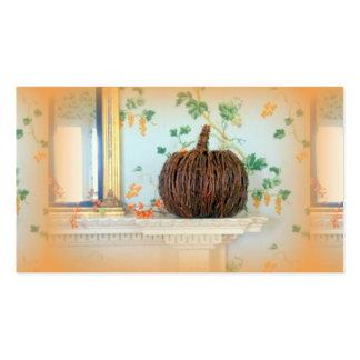 Colonial pumpkin basket business card
