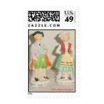 COLONIAL SALT AND PEPPER SHAKERS POSTAGE STAMP