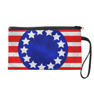 Colonial Stars and Stripes Bagette Wristlet Purse