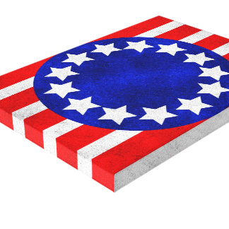 Colonial Stars and Stripes Canvas Print
