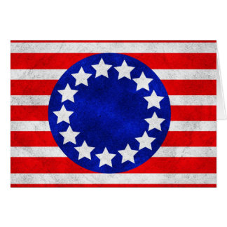 Colonial Stars and Stripes Card