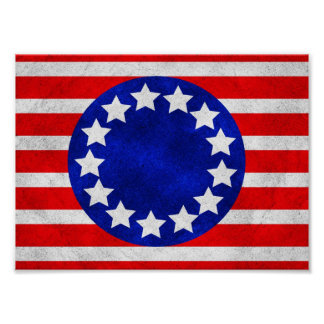 Colonial Stars and Stripes Poster