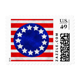 Colonial Stars and Stripes Stamp