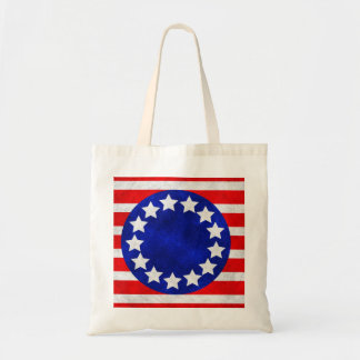 Colonial Stars and Stripes Stickers Tote Bag