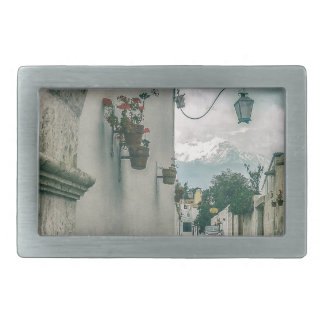 Colonial Street of Arequipa City Peru Belt Buckle