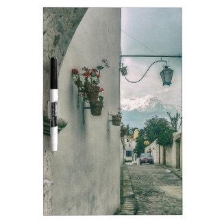 Colonial Street of Arequipa City Peru Dry Erase Board